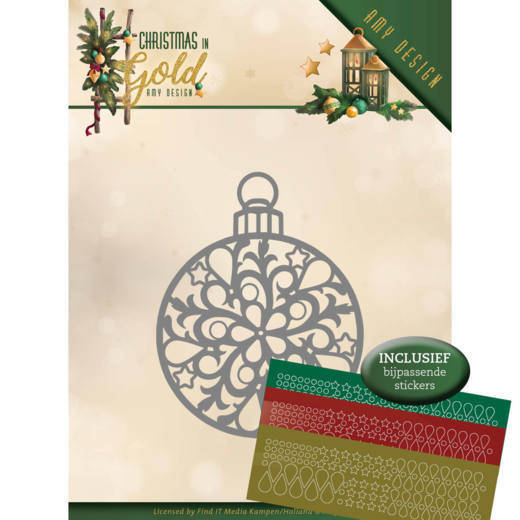 ADD10183 Chirstmas bauble - Christmas in gold