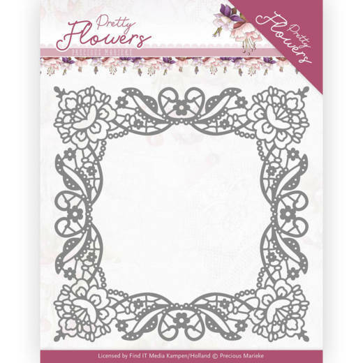 PM10188 Pretty Flowers - Lace Frame