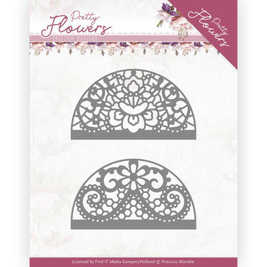 pm10191 Pretty Flowers - Lace Circle