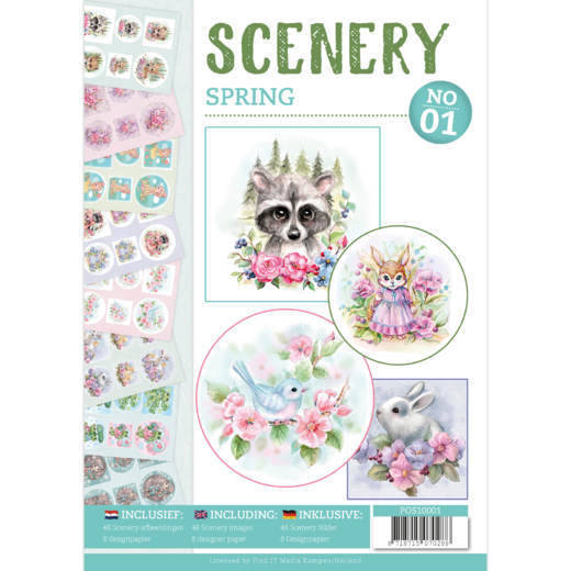 POS10001 Spring - Push Out book Scenery 1