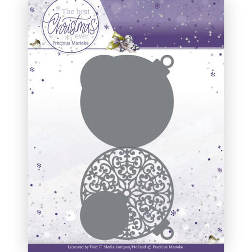 PM10208 The Best Christmas Ever - Christmas Bauble Shape Card