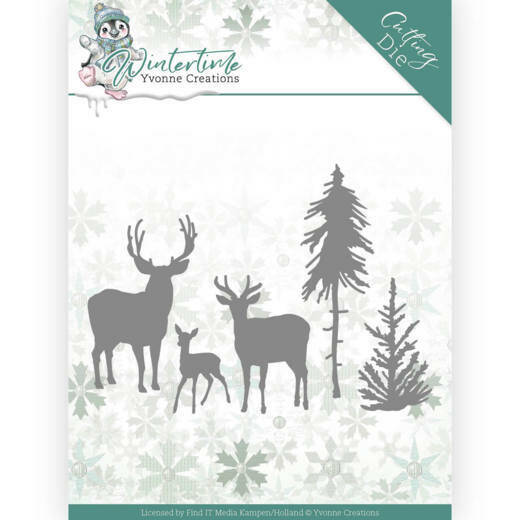 YCD10217 Winter Time - Deer in the Forest