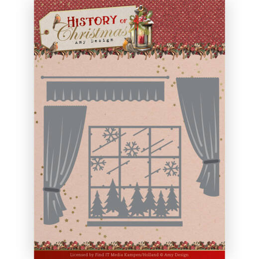 ADD10243 History of Christmas - Window with Curtains