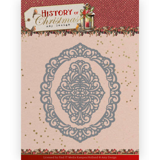 ADD10245 History of Christmas - Lacy Christmas Oval