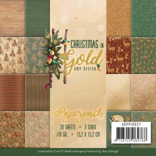 ADPP10027 Christmas in gold