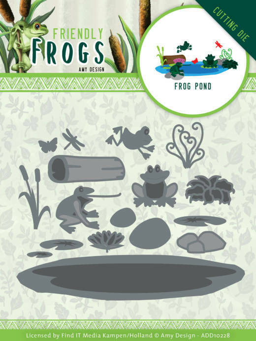 ADD10228 Friendly Frogs - Frog Pond