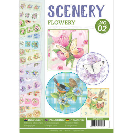 POS10002 Flowery -  Push Out book Scenery 2