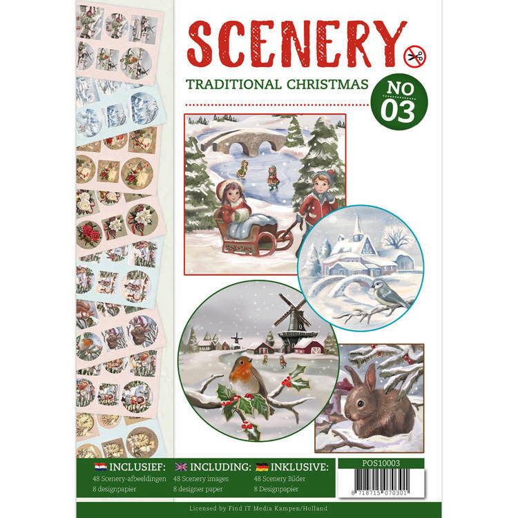 POS10003 Traditional Christmas - Push Out boek Scenery 3