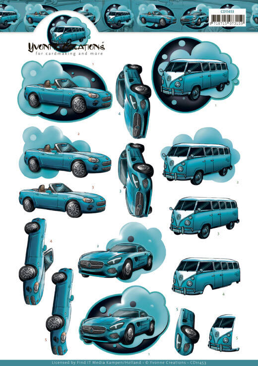 Yvonne Creations - Cars in Blue