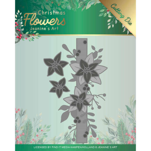 JAD10105 Poinsettia Border - Christmas Flowers
