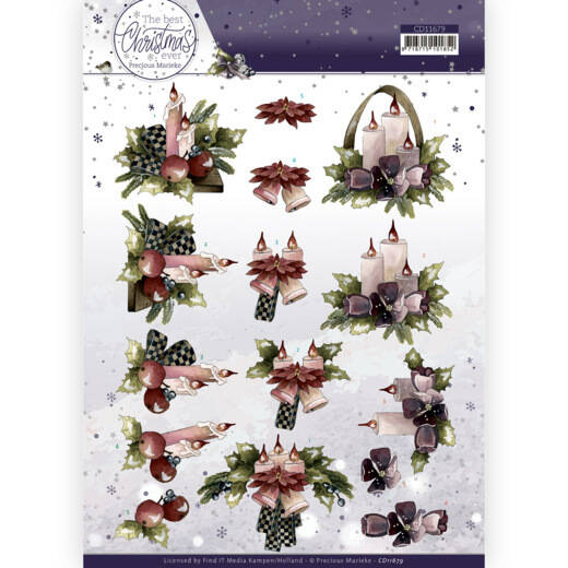 The Best Christmas Ever - Purple Flowers And Candles