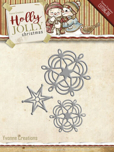 YCD10073 Yvonne Creations - Holly Jolly - Snowflake and Star