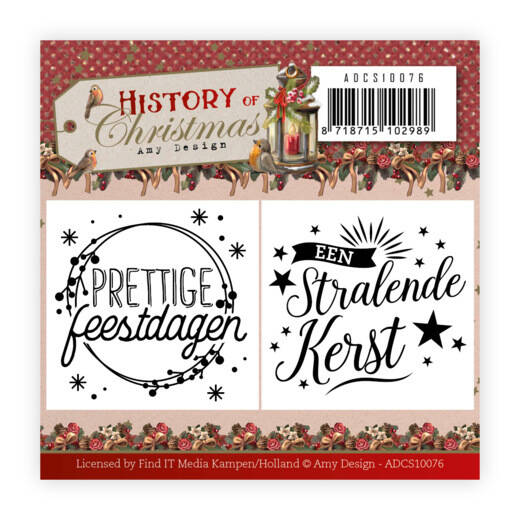 ADCS10076 History of Christmas - Mini Clear Stamps Set