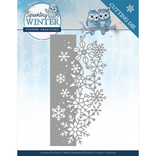 YCD10189 Sparking Border - Sparkling Winter