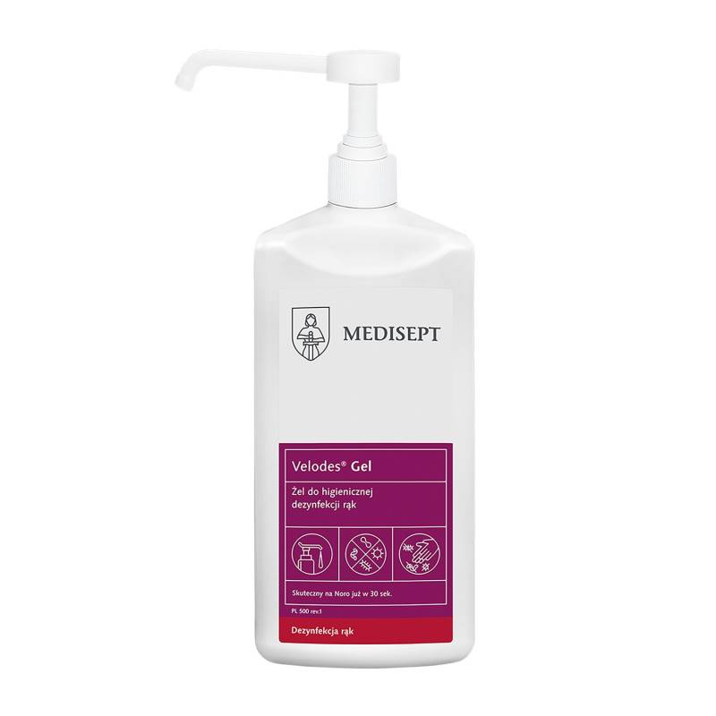 Velodes gel hand desinfectie 500 ml