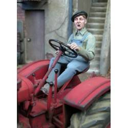 Man Driving a Tractor MK35 F209