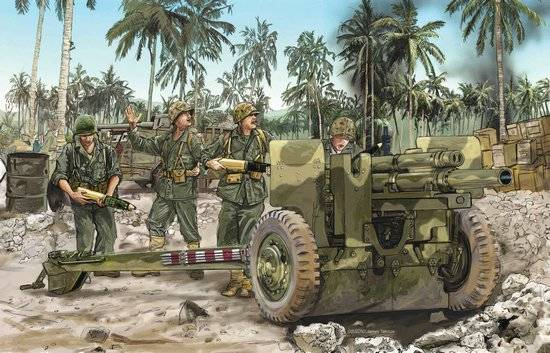 US 105mm Howitzer M2A1 & Carriage M2A2	DRA6531