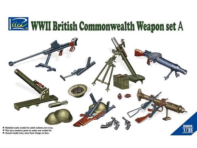 British Commenwealth Weapon Set A -RIICH RE30010