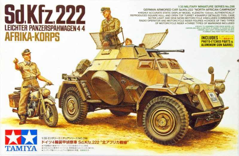 German Sd.Kfz. 222 & DKW350-DAK 	TAM35286
