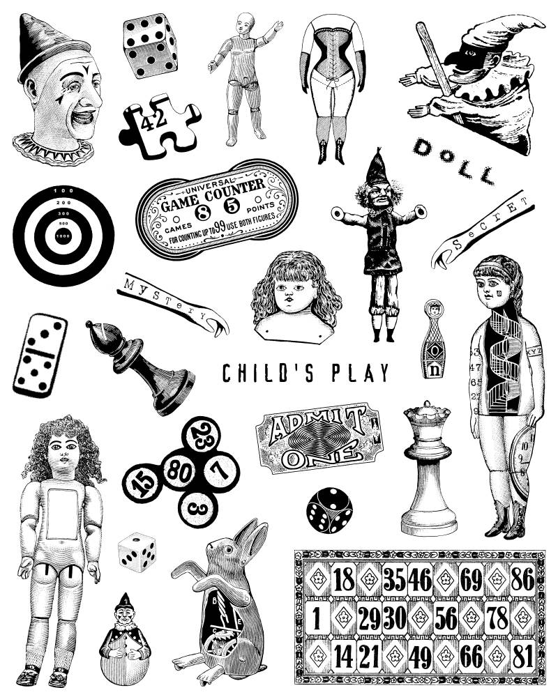 FASPL04 Plate 04 Toys and games