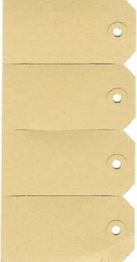 Labels 50 x 100 mm brown
