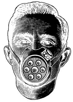 FAS D0115 Man with gasmask