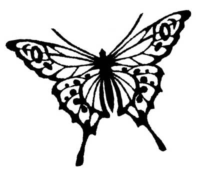 NS E0505 Butterfly silhouette