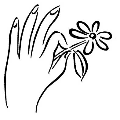 NS E0512 Hand with flower