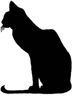 SW E20001/224 Stately cat silhouette
