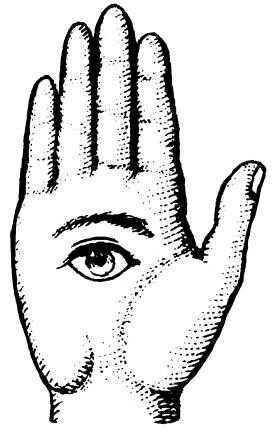 FAS F1004 Hand with eye