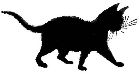 SW F20002/224 Playful cat silhouette