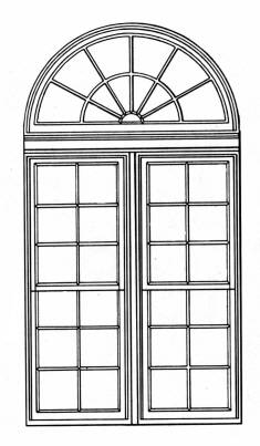 SW G11048/118 Arched window small