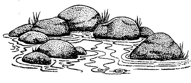 SW M05066/SWCP05 Rocks in the water