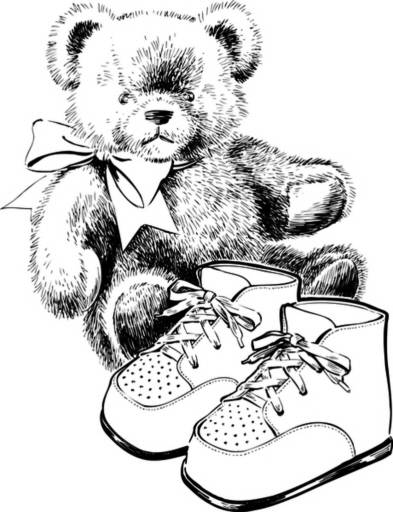 SW N17028/197 Bear and baby shoes