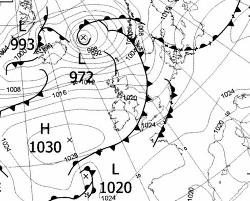 SW N20036/228 Weather chart