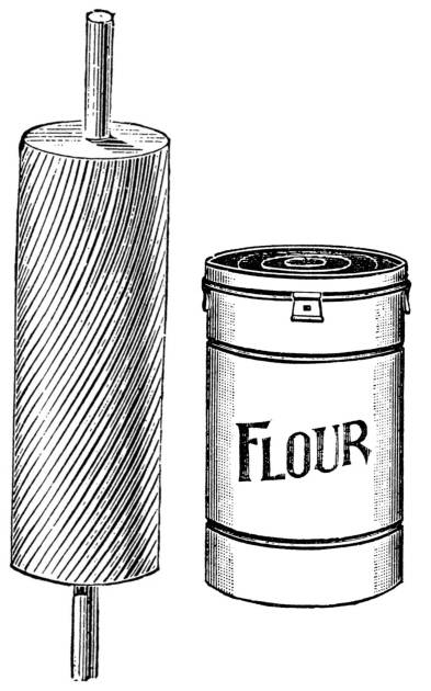 SW P07079/66 Rolling pin and flour canister