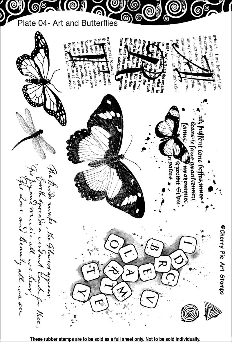 CPPL04 Plate 04 Art and butterflies