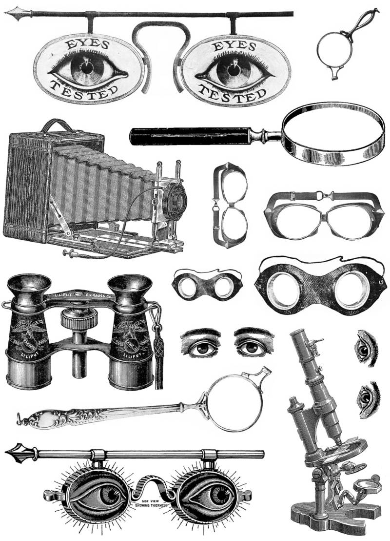 PLATESW141 Plate 141 Steampunk 14 Sight glasses