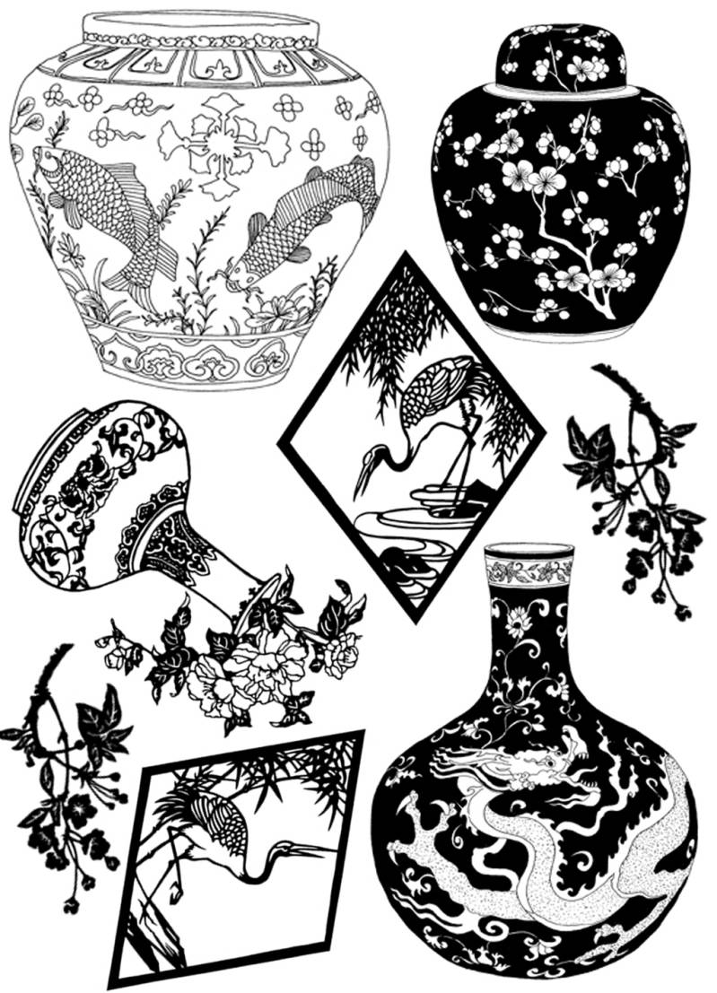PLATESW014 Plate 014 Vases
