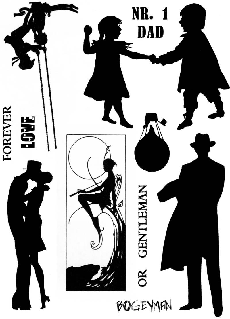 PLATESW154 Plate 154 Silhouettes 2
