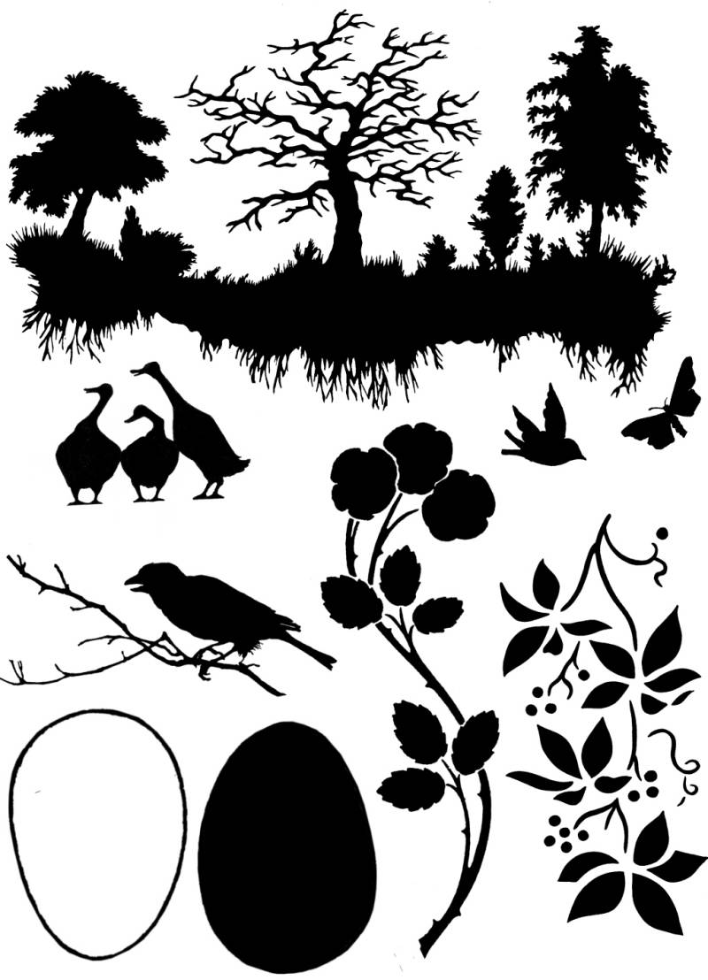 PLATESW155 Plate 155 Naturesilhouettes 1