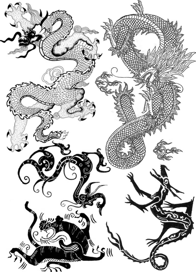 PLATESW016 Plate 016 Dragons