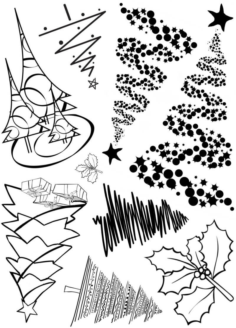 PLATESW194 Plate 194 Christmastrees