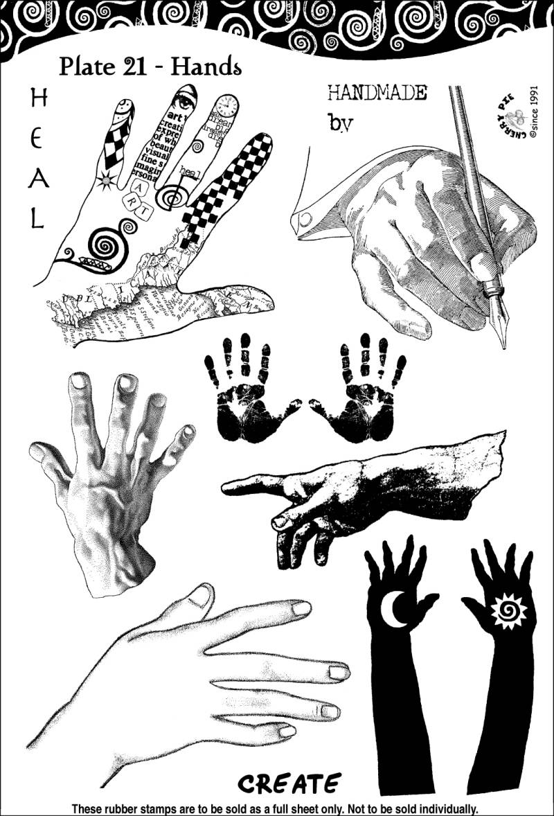 CPPL21 Plate 21 Hands