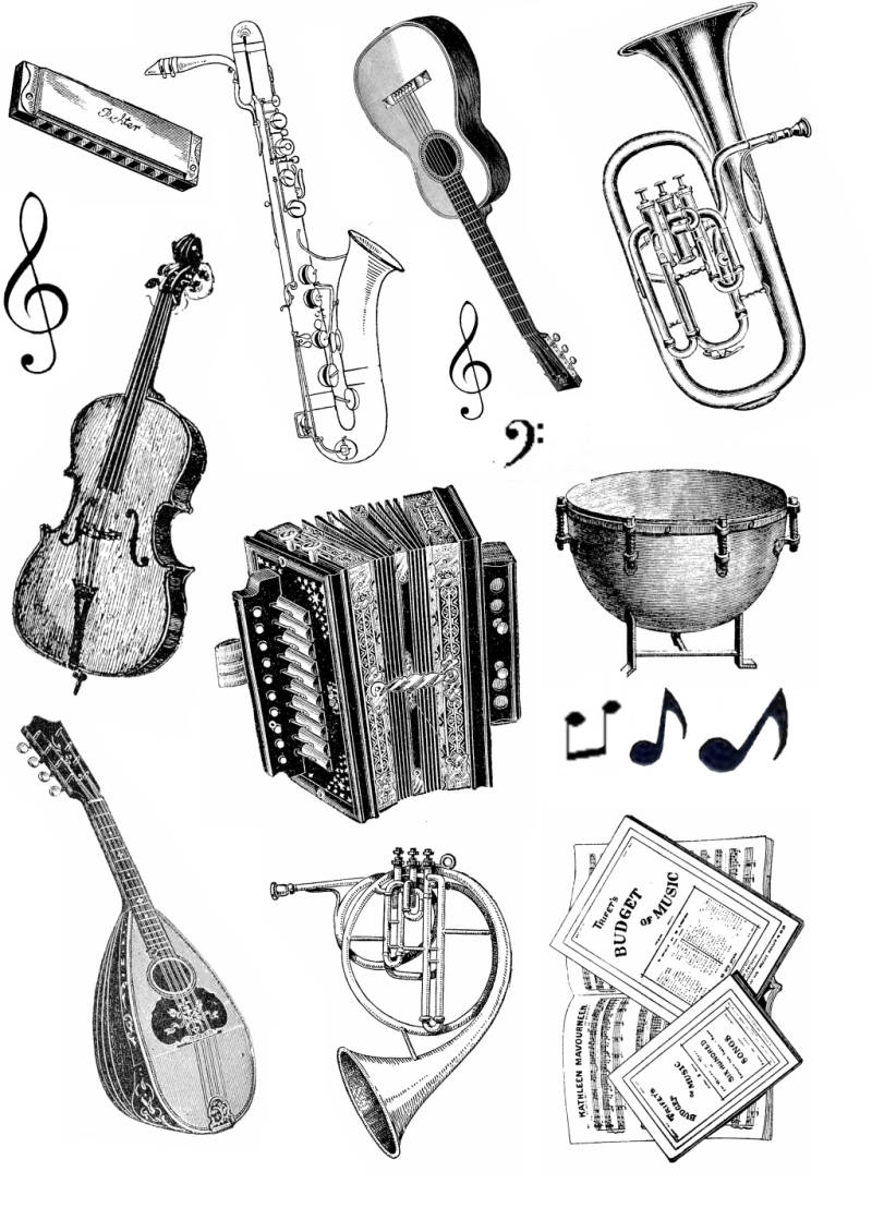 PLATESW027 Plate 027 Musical instruments