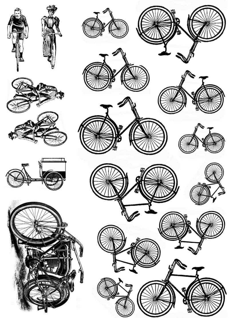 PLATESW043 Plate 043 Bicycles