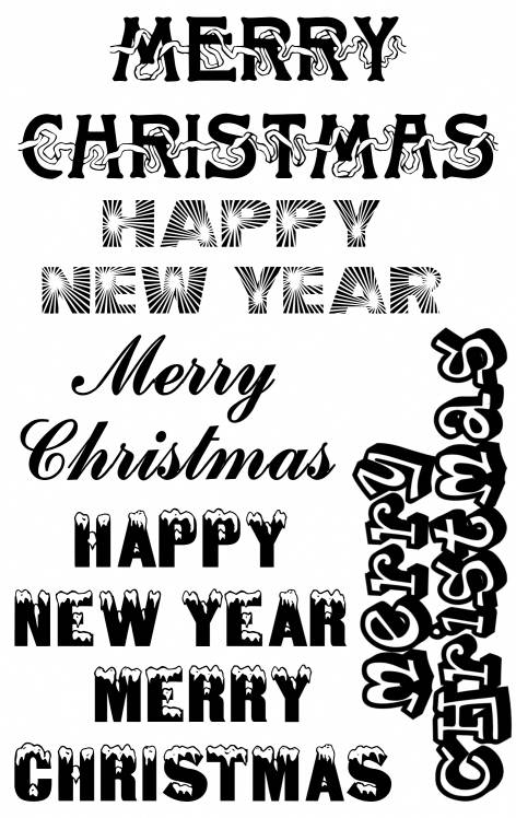 SW Q07087/67 Merry Christmas/Happy New Year
