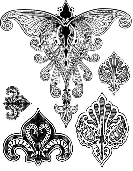 SW Q07091/68 Moorish ornaments