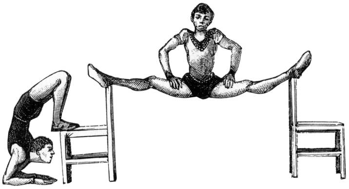 SW Q12036/127 Acrobats with chairs