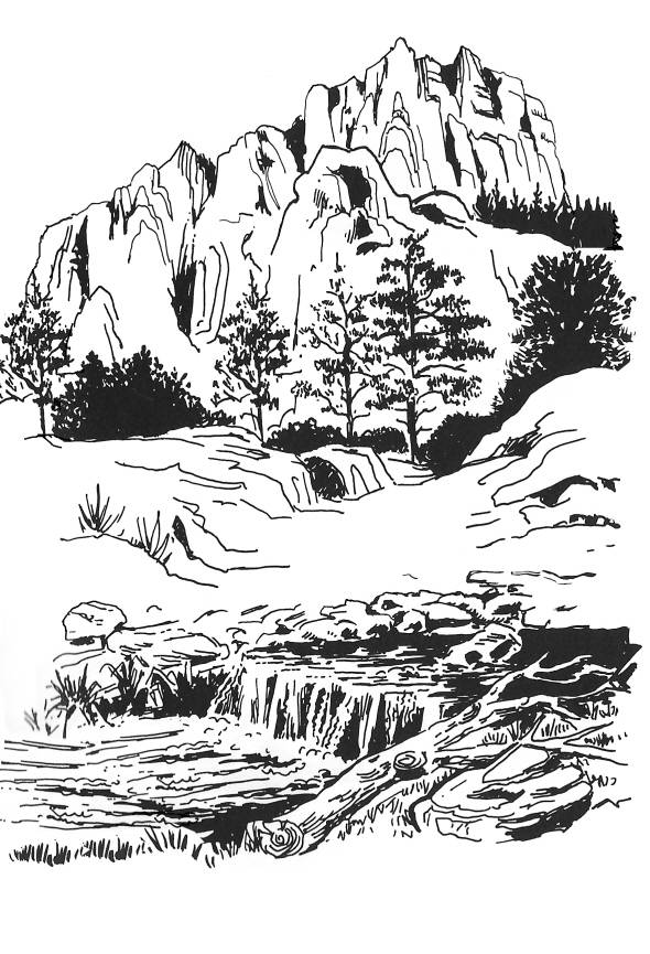 SW R14043/176 Mountainlandscape with cascade